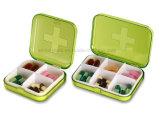 Caja plástica portable del rectángulo de la píldora de la prueba 7days del niño