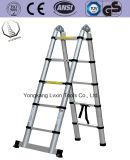 Industrial Aluminio sola sección de poste de escalera 5m