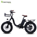 Preiswerter fetter Gummireifen-weißes faltbares elektrisches Fahrrad der Dame-20inch