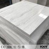 Tabella quadrata di pietra bianca di superficie solida impostata per sala da pranzo