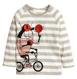 昇進の幼児の男の子の女の子の長い袖の100%年の綿のTシャツの上のティーのサイズ3-8年、子供の子供の衣類