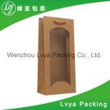 Sac de papier estampé par luxe au détail fait sur commande pour des vins d'emballage
