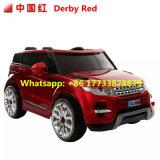 Carro elétrico das crianças da cor verde de land rover