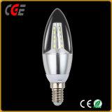 Diodo emissor de luz retro da lâmpada da vela que escurece bulbos