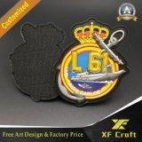 Firmenzeichen-Kleid-Kennsatz-Form gesponnenes Gewebe-Stickerei Belüftung-Änderung- am Objektprogrammemblem des Förderung-kundenspezifische Militär-3D für Kleidung (XF-PT06)