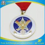 専門の金または銀または青銅色の安い習慣のスポーツの円形浮彫り(XF-MD05)