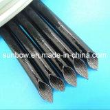 Gainer tressé par fibre de verre enduite de silicone ignifuge pour des moteurs