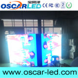 P10 SMD al aire libre a todo color se doblan echado a un lado haciendo publicidad de la muestra del LED