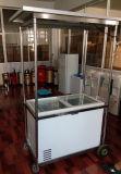congelador de vidro psto solar do indicador da porta da C.C. 12/24V com reboque