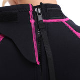 Wetsuit do neopreno do `S Shorty das mulheres com nylon preto ambos os lados (HX-L0454)