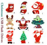 Lecteur flash USB mignon de PVC de Noël de lecteur flash USB de cadeau pour le cadeau promotionnel