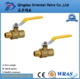 Extremo manual de calidad superior de la unión del precio bajo vávula de bola de cobre amarillo de 1 pulgada con la entrerrosca