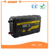 Suoer 15A 24V PWM que cobra o auto carregador de bateria do carro (MC-2415A)