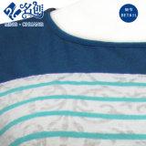 La Horizontal-Orientation de Rond-Collier de à manches courtes de Mélangé-Couleur élimine le T-shirt élastique de dames de loisirs