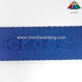 25mm 파랑 색깔 나일론 자카드 직물 가죽 끈