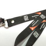 Acollador tejido impresión de encargo de la tela de la conferencia de los acontecimientos del festival con el portatarjetas de la identificación