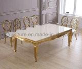Tableau en verre blanc de mariage de bâti d'or d'acier inoxydable de Rose premier