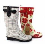 Ботинки повелительниц резиновый с печатание цвета