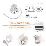LED-Schrank-Punkt-Beleuchtung unten helle Dimmable 2W 24V Gleichstrom-LED
