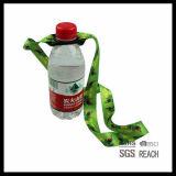 Cinghia della sagola del collo della cinghia del supporto della bottiglia di acqua stampata abitudine
