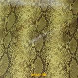 2016 Venta caliente de la serpiente verde sintético PU superior de cuero de zapatos