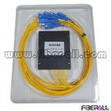 divisor óptico del PLC de la fibra 1X8 con el rectángulo del ABS