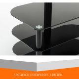 Estante de la TV/soporte de cristal del suelo