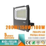 прожектор 130lm/W супер яркий 200W напольный СИД с водителем Philips