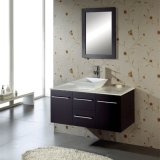 Темная стена Bronw повиснула одиночную тщету ванной комнаты раковины