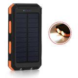 Wasserdichte 10000mAh SolarPowerbank Doppel-USB-mobile Aufladeeinheitexternal-Batterie