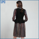 The New Women's Clothing Impression En Lace-up Tunic Dress Gilet Vêtements de mode