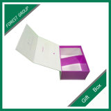 Caja de regalo plegable de cierre magnético púrpura