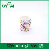 Zoll gedruckte einzelne Wand-Eiscreme-Papierwegwerfcup