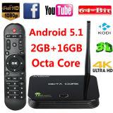 LAN 64-bit Bluetooth Media Player do núcleo 2g/16g 4k WiFi do Android 5.1 Rk3368 Cortex-A53 Octa da caixa da tevê de Andoer Z4