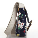 Rétro sac d'épaule imperméable à l'eau floral britannique de toile de PVC (23242)