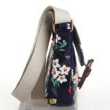 British Retro Floral PVC impermeable hombro Bolsas Crossbody Bolsa