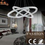 Hotel Residencial Tres anillos de luz de lámpara colgante araña de cristal