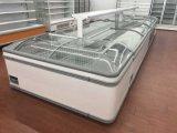 Congelador comercial usado congelador da caixa do indicador do supermercado para a venda