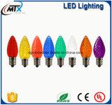 """28 """"NOUVELLE ampoule LED C7 Blue Xmas ampoule Blowmold Plastic Outdoor Yard Lawn Up S53"""