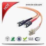 Cuerda óptica 3.0m m de la corrección de la fibra de Sc/Upc-St/Upc con el conector de LC/Sc/FC/St