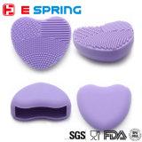 Il silicone compone la figura sveglia facile del cuore della spazzola di pulizia