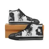 De douane maakt tot het Af:drukken van de Sublimatie van Schoenen de Unisex-Tennisschoenen van het Canvas Hicut