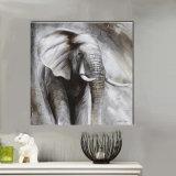 흑백 코끼리 유화