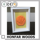 Marco de madera negro moderno para el bebé Footprint&Handprint