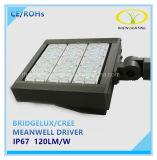 luzes do diodo emissor de luz Shoebox de 150W Bridgelux com certificação de RoHS do Ce