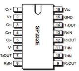 Circuito integrato di CI della riga driver e degli accoppiamenti Sp232een della ricevente