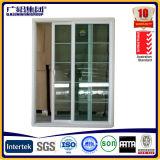 Alumínio e porta deslizante de vidro com tamanhos padrão