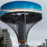 Pantalla de visualización publicitaria a todo color de LED P10 al aire libre