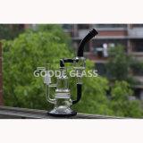 De groene en Zwarte Waterpijp van het Glas van Handblown Borosilicate Kleurrijke Rokende