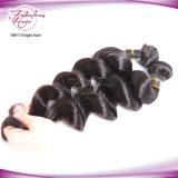 O Weave brasileiro do cabelo do Virgin da onda frouxa empacota o preto natural das extensões do cabelo humano